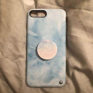 Accessories - iPhone 8 Plus/ 7 Plus case + pop socket